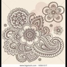 :: Can be used ,vector illustration design ,flowers and paisley... ::