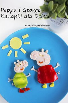 Peppa i George Kanapki dla Dzieci - Just My Delicious Yoshi, Cooking, Desserts, Character, Food, Food And Drinks, Kitchen, Tailgate Desserts, Deserts
