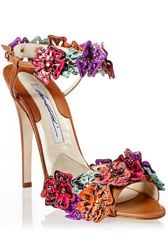 Brian Atwood Flower Heels Spring Summer 2013 #Shoes #Heels