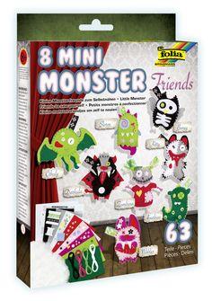 Lustige Monster aus Filz - nicht nur für Halloween! Mehr unter http://www.folia.de