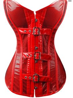 Sexy Red PVC Strapless Corset Overbust #RED #WHOLESALE #Lingeriefirst