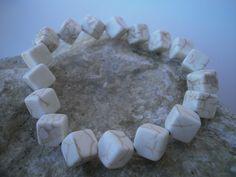 """Weiteres - Magnesit Armband """"cube"""" - ein Designerstück von star-schmuck bei DaWanda"""
