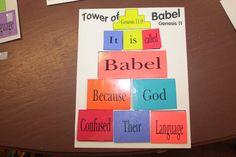 Hands On Bible Teacher: Tower of Babel Idea Genesis 11 Preschool Bible Lessons, Bible Crafts For Kids, Bible Activities, Preschool Crafts, Sunday Activities, Kids Bible, Church Activities, Kid Crafts, Turm Von Babylon