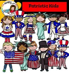 Patriotic Kids Clip Art set features 22 items: 12 clip arts in color. 10 clip arts in black & white.All images are 300dpi, Png files.This clipart license allows for personal, educational, and commercial small business use. If using commercially, or in a freebie, credit to my store by a link is required and appreciated.