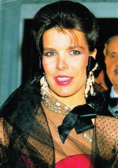 Princess Caroline of Monaco at the Christian Dior 40th anniversary party in Paris.March,1987.