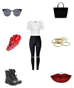 """""""Untitled #3003"""" by webbgyrl2000 ❤ liked on Polyvore featuring Steve Madden, WithChic, Topshop, Lacoste, Quay, Cara, Kendra Scott and Anastasia Beverly Hills"""