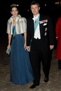 Frederik & Mary at the State dinner for visiting Slovakian dignitaries