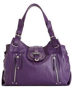 Michael Kors OFF!>> Nine West Handbag Zipster Medium Satchel - Satchels - Handbags Accessories - Macys Discount Coach Bags, Coach Handbags Outlet, Handbags On Sale, Coach Purses, Purses And Handbags, Purple Handbags, Satchel Handbags, Leather Handbags, Burberry Handbags