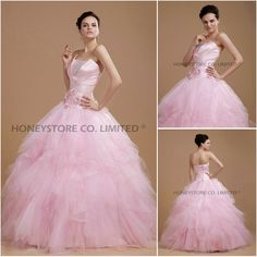 Aliexpress.com : Buy 2013 Style Tulle Pink High Quality Quinceanera Dresses from Reliable quinceaneras dress suppliers on HONEYSTORE CO., LIMITED $407.49