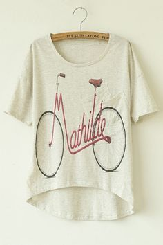 """Mathilde"" graphic bike tee"
