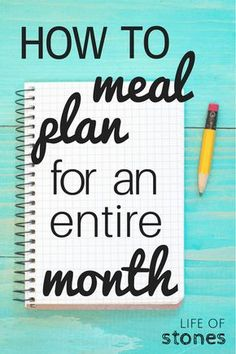 Meal planning is a lifesaver! And money saver! It can take so much time to grocery shop and meal plan for a week that by the time you finish it's almost time to start again! Meal planning for an entire month has saved me so much time and money! Check t Monthly Meal Planning, Budget Meal Planning, Meal Planning Printable, Budget Meals, Meal Planner, Food Budget, Meal Planning Board, Money Budget, Cooking For A Crowd