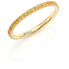 Kwiat Stackable Pave Yellow Sapphire & 18K Yellow Gold Band ($890) ❤ liked on Polyvore featuring jewelry, rings, apparel & accessories, gold, 18k ring, 18 karat gold ring, gold stackable rings, yellow gold rings and band rings