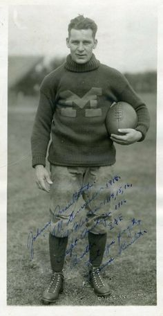 """All American"" Univ. of Michigan Football Player, 1914 BEEN THE BEST SINCE THE START!! #PinToWin #BeatOhio"