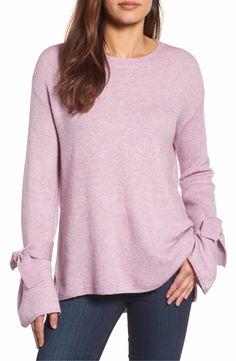 75c8d278c4 Halogen® Tie Bell Sleeve Sweater (Regular   Petite)