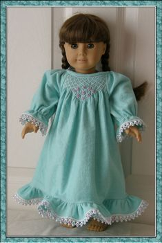 Emily Nightgown and Pyjamas PDF pattern for 18 Doll by Genniewren