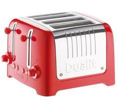 Buy a used Dualit Lite 46281 Toaster in Metallic Red. ✅Compare prices by UK Leading retailers that sells ⭐Used Dualit Lite 46281 Toaster in Metallic Red for cheap prices. 50s Diner Kitchen, Smeg Kitchen, Small Kitchen Appliances, Kitchen Items, Aqua Kitchen, Kitchen Gadgets, Dualit Toaster, Kitchens