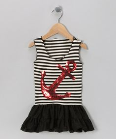 Charla's Place Black Anchor Dress -  by Anchors Away:  on #zulily today! Seriously, can someone please have a girl?