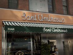 Saint Ambroeus bakery and cafe on Madison Avenue is mentioned in The Stolen Chalice because this is where I get my mid-morning coffee.