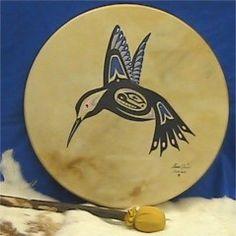 Painting on Sunreed's Native Drums | Sunreed.com