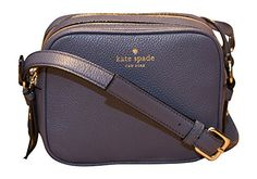 Kate Spade New York Mulberry Street Pyper Pebbled Leather Crossbody Bag, Diver Blue ** Check out this great article. Mulberry Street, Kate Spade Handbags, Blue Check, Blue Bags, Fall Looks, Purse Wallet, Leather Crossbody Bag, Pebbled Leather, Michael Kors Jet Set