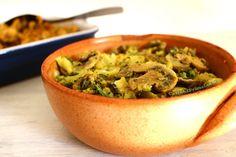Brócolis e champignons ao curry | Cozinha Primal #semlactose #semovo
