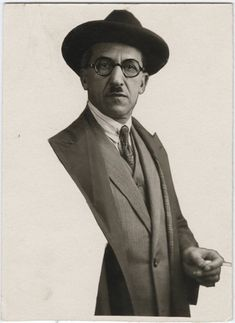 """P. Mondrian (undated), photographer unknown, possibly Man Ray. Shown at the Société Anonyme, an organization designed to support & generate awareness of modernist art between 1920 & 1940; the group's name, a French phrase meaning """"incorporated,"""" highlighted the fact that the organization was not allied with any particular artistic school. text & image via accidental mysteries"""