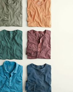 Introducing the J.Crew men's made-in-LA garment-dyed henley. To pre-order, call…