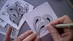 Pais by Mikee Huber is so fun, and can fill in a lot of space in a short time… Tangle Doodle, Tangle Art, Zen Doodle, Doodle Art, Zentangle Drawings, Doodles Zentangles, Doodle Drawings, Mandala Pattern, Zentangle Patterns