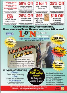 L & N Carpet Cleaning, get that summer cleaning done right !