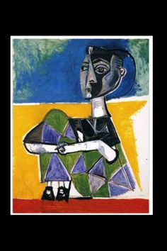 Jacqueline Seated (1954) Pablo Picasso in Museo Picasso, Málaga, Spain