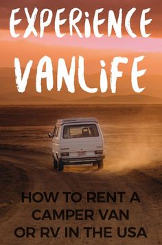 Try VanLife: Rent a Camper Van or RV in the USA #vanlife #rental Would you like to explore in a campervan or RV? You can rent one from several companies, here are our favorites. #rv