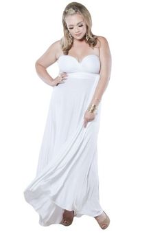 Sealed With A Kiss Designs Plus Size Eternity Maxi Convertible Dress in White  Size 5X White *** More info could be found at the image url.