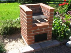 Hera pihagrilli Small Backyard Pools, Ponds Backyard, Fire Pit Backyard, Backyard Bbq, Bbq Grill Diy, Barbecue Garden, Rustic Patio, Rustic Outdoor, Outdoor Fireplace Brick