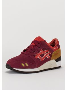 Asics Laufschuh Gel-Lyte III burgundy/fiery red