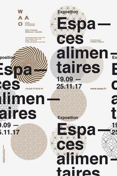"""""""espaces alimentaires"""" by les produits de l'épicerie / france, 2017 / offset, 400 x 600 mm"""