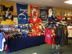 Get your gear locally at Brant's Clothing on the Historic Downtown Liberty Square! Chiefs!  Royals! Sporting KC! Mizzou Tigers! William Jewell Cardinals! STL Cardinals!  KU Jayhawks!
