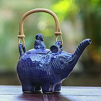 Buddha and Sapphire Elephant from @NOVICA, They help #artisans succeed worldwide.