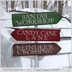 2013/12/15 Alouette - North Pole Destinations Sign http://maps.secondlife.com/secondlife/Larette%20Island/76/98/1501