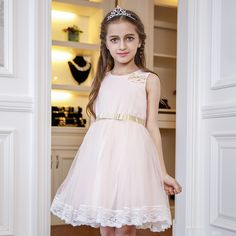 >> Click to Buy << Nimble Flower Girls Dresses Summer New casual Fashion Lace Golden bow Girl Clothing and sashes Dress #Affiliate