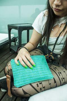 Bird Trouble's Mexi Mamacita... neon green nail polish and rad tights.