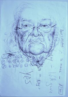 Found paper so i had to draw on it by mark powell bic biro drawings, via Flickr