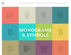 "Check out this @Behance project: ""Monograms and Symbols.""…"
