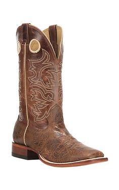 Cavender's Men's Antiqued Cognac Square Toe Western Boot