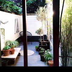 Une terrasse printannière
