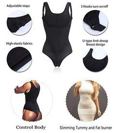 22f582c8a7 Women Full Body Shaper Waist Trainer Cincher Corset Shapewear Bodysuit  Tummy Underwear for Control (3XL