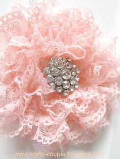 crafty couple: Simple Ruffled Lace Flower Tutorial  LOVE IT!!!