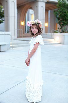 Flower girl attire.