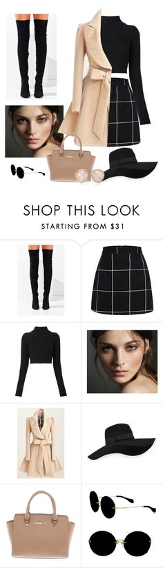 """""""#outside"""" by merve-akin ❤ liked on Polyvore featuring Jeffrey Campbell, Balmain, Burberry, San Diego Hat Co., Michael Kors, Miu Miu and Monica Vinader"""