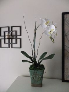 28 White Silk Phalaenopsis Orchid by FineOrchidCreations on Etsy