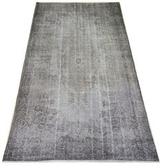 5.8x9.8 FT 172x294 cm GRAY & Brown Color OVERDYED by WeMakeRugs, $595.00